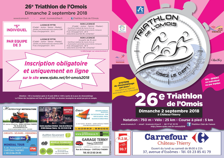 triathlon 23 septembre 2018
