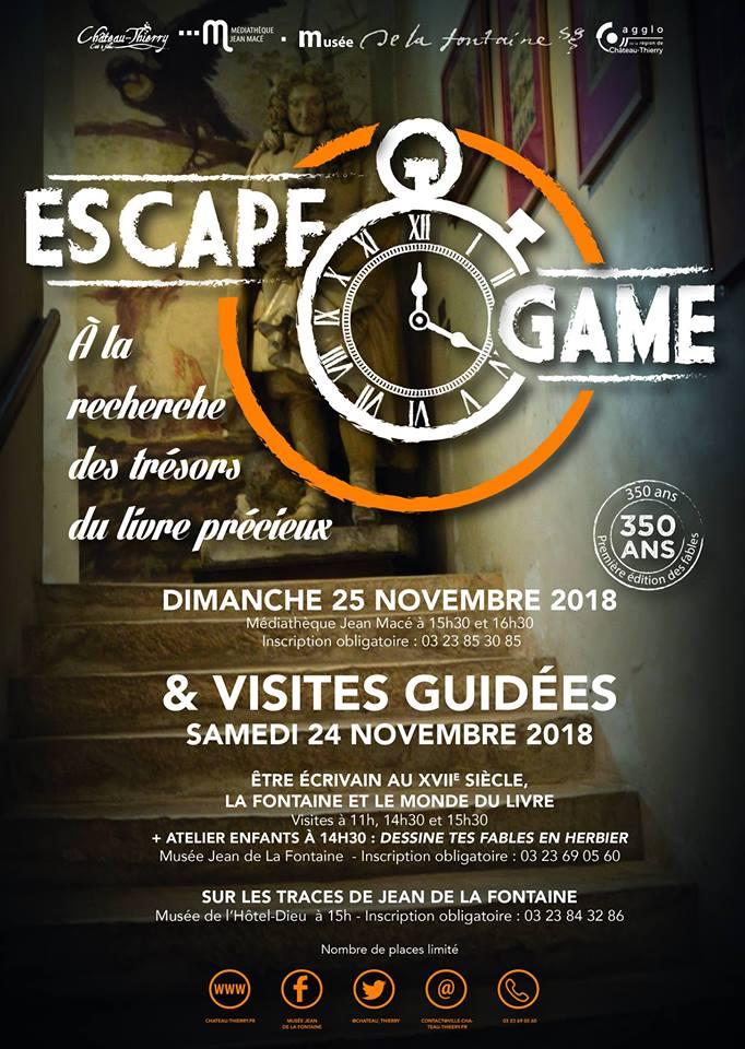 Escape Game Fetons Ensemble Les 350 Ans Des Fables